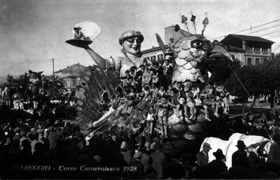 Il trionfo della vita di Umberto Giampieri - Carri grandi - Carnevale di Viareggio 1928