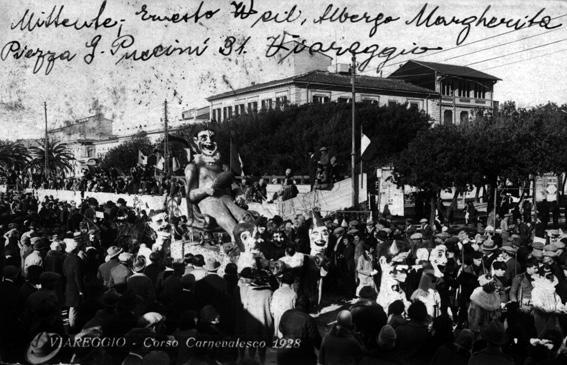 Il trionfo di pagliaccio di Lino Tolomei - Carri piccoli - Carnevale di Viareggio 1928
