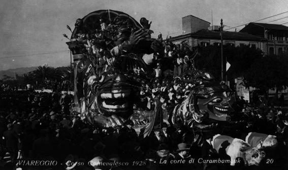 La corte di Karambambuck di Antonio D'Arliano - Carri grandi - Carnevale di Viareggio 1928