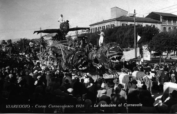 Le bajadere al carnevale di Fabio e Mario Romani - Carri grandi - Carnevale di Viareggio 1928