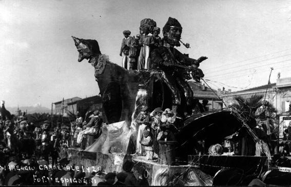 Pesca miracolosa di Guido Baroni - Carri grandi - Carnevale di Viareggio 1928