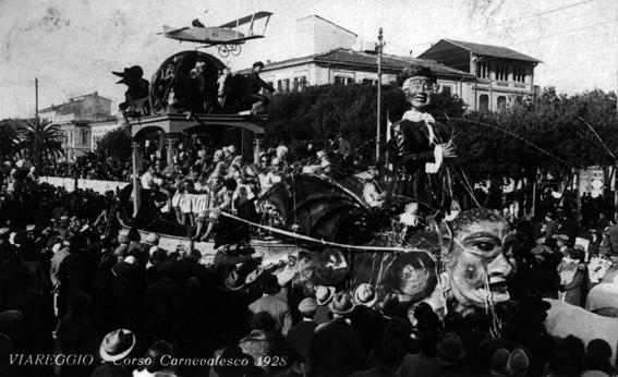 Se quell idiota ci pensasse di Alighiero e Guglielmo Cattani - Carri grandi - Carnevale di Viareggio 1928