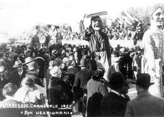 Venditrici in carattere di A. Balestri - Mascherate di Gruppo - Carnevale di Viareggio 1928