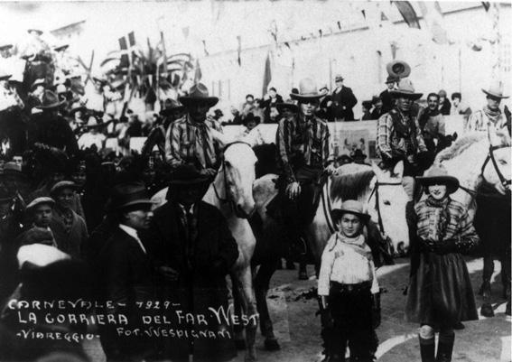 Corriera del Far West di Ubaldo Lubrano - Cavalcate - Carnevale di Viareggio 1929