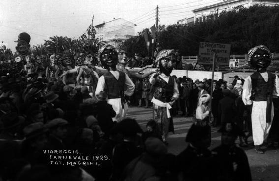 Danzatrici d Oriente di Armando Ramacciotti - Mascherate di Gruppo - Carnevale di Viareggio 1929