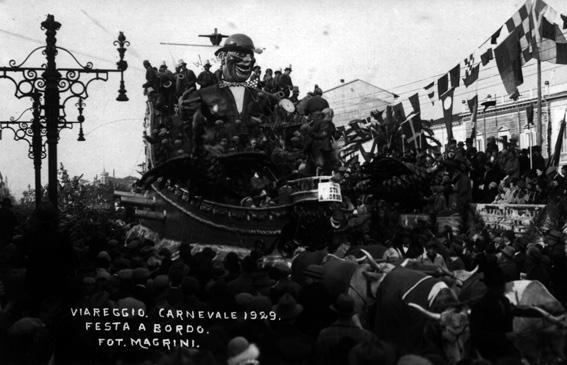 Festa a bordo di Giuseppe Belli - Carri grandi - Carnevale di Viareggio 1929