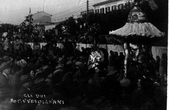 Gli Dei al carnevale di Antonio Pardini - Mascherate di Gruppo - Carnevale di Viareggio 1929