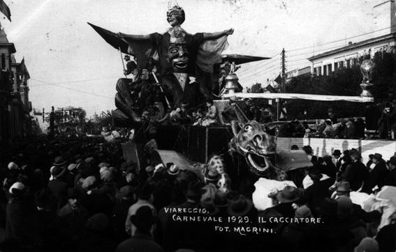 Il cacciatore di Osvaldo Del Carlo - Carri piccoli - Carnevale di Viareggio 1929