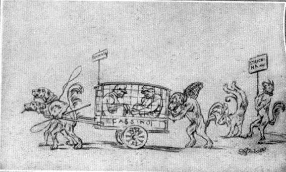 La rivincita di Fulvio Puccetti - Mascherate di Gruppo - Carnevale di Viareggio 1929