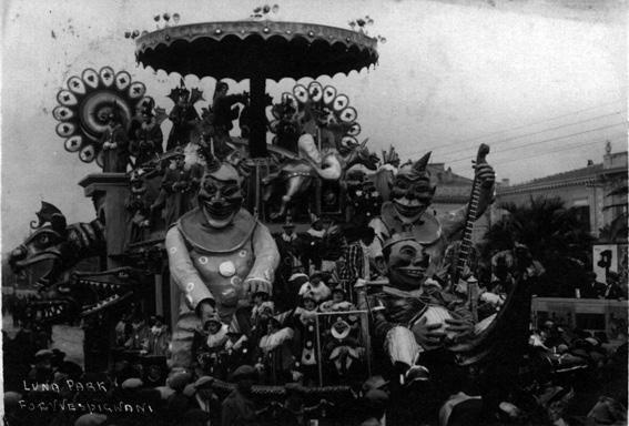 Luna park di Antonio D'Arliano - Carri grandi - Carnevale di Viareggio 1929