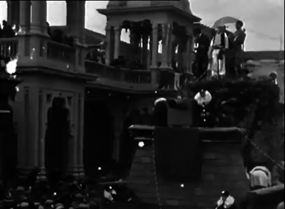 Pesca di nuovi astri del cinema di G. Bini - Carri piccoli - Carnevale di Viareggio 1929