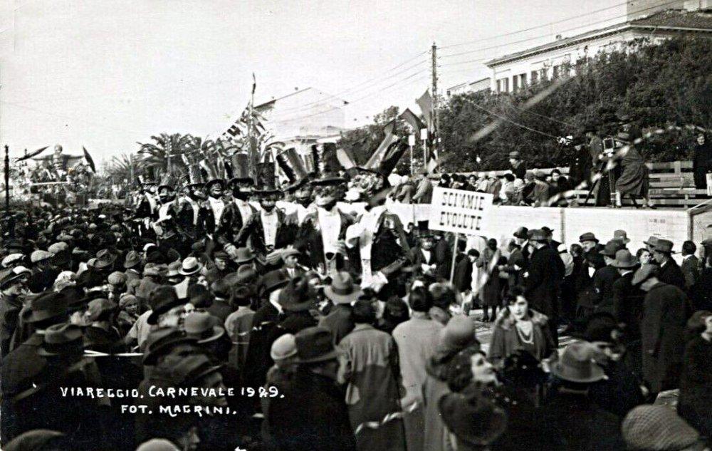 Scimmie evolute di Alfredo Morescalchi e Marcello Di Volo - Mascherate di Gruppo - Carnevale di Viareggio 1929