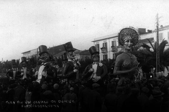 Tira piu un occhio di donna di Francesco Francesconi - Mascherate di Gruppo - Carnevale di Viareggio 1929