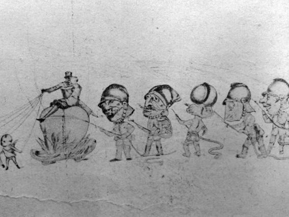 Troppo fuoco in carnevale di Guido Tomei - Mascherate di Gruppo - Carnevale di Viareggio 1929