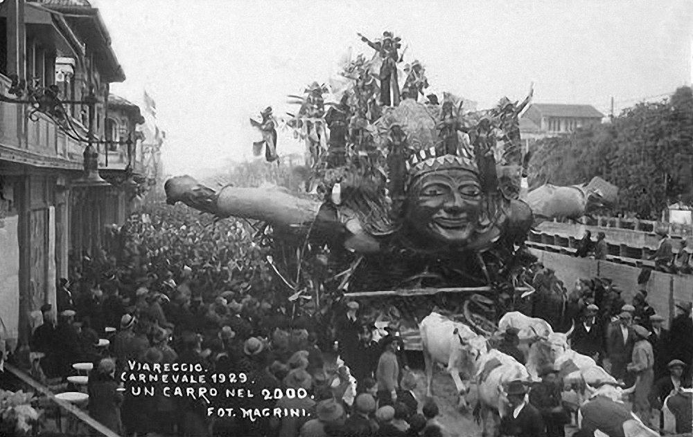 Un carro nel duemila di Alfredo Pardini - Carri grandi - Carnevale di Viareggio 1929