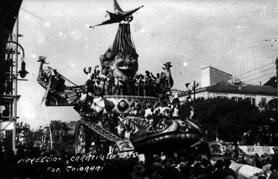 Assalto al corso di Alfredo Pardini - Carri grandi - Carnevale di Viareggio 1930