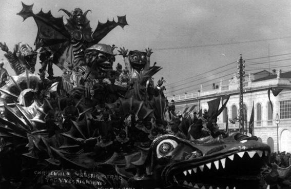 Carnevale prestigiatore di Antonio D'Arliano - Carri grandi - Carnevale di Viareggio 1930