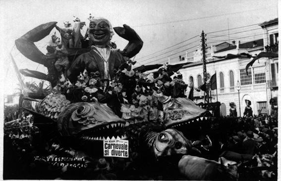 Carnevale si diverte di Antonio D'Arliano - Carri piccoli - Carnevale di Viareggio 1930