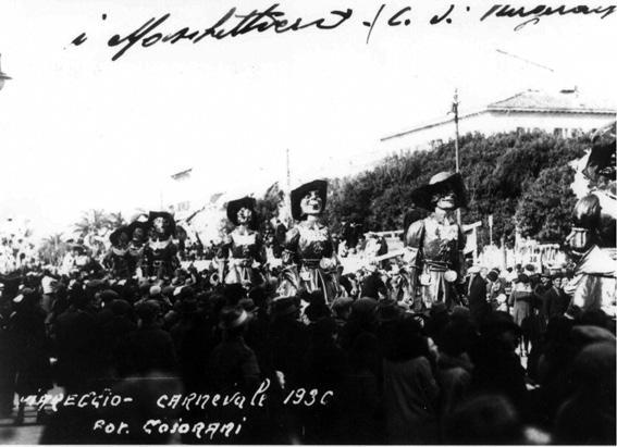 I cadetti di Guascogna al carnevale di Ubaldo Lubrano e Enzo Battistini - Mascherate di Gruppo - Carnevale di Viareggio 1930