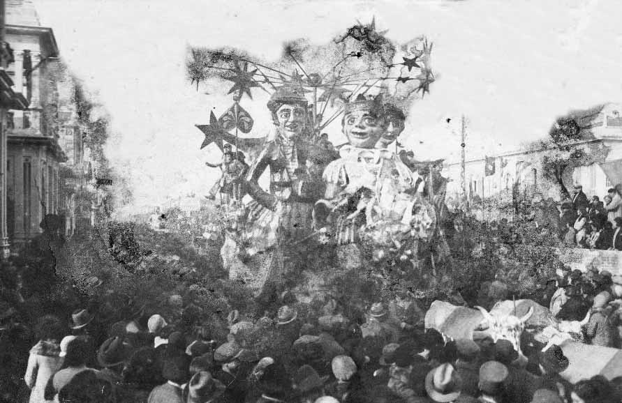 I cavalieri della luna di Michelangelo Marcucci - Carri grandi - Carnevale di Viareggio 1930