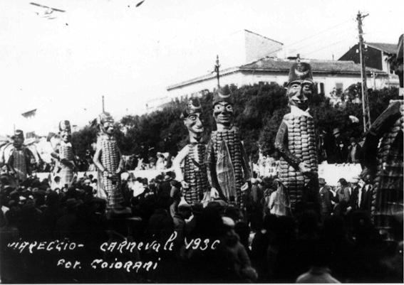 I gran turchi di Guido Tomei - Mascherate di Gruppo - Carnevale di Viareggio 1930