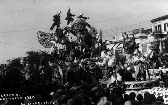 Incantatore incantato di Mario Biondi - Carri grandi - Carnevale di Viareggio 1930