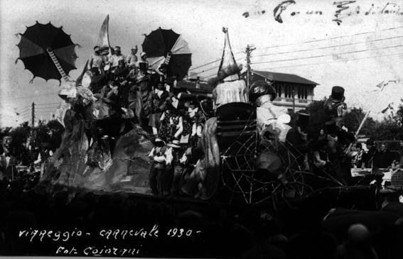 La luna ad un metro di Guido Baroni - Carri piccoli - Carnevale di Viareggio 1930