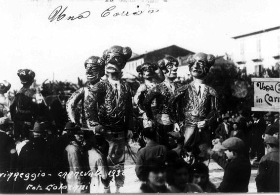 Una corrida in carnevale di Guido Tomei - Mascherate di Gruppo - Carnevale di Viareggio 1930