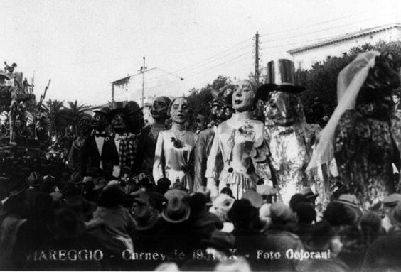 Attualita di Fabrizio Lubrano - Mascherate di Gruppo - Carnevale di Viareggio 1931