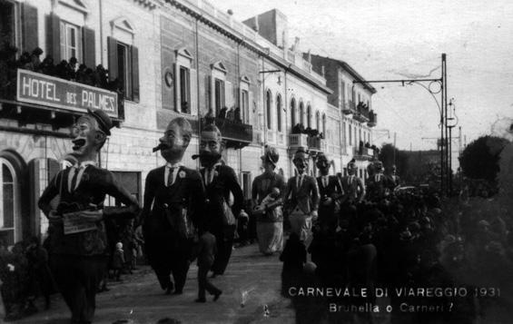 Bruneri o Canella di Raffaello Raffaelli - Mascherate di Gruppo - Carnevale di Viareggio 1931