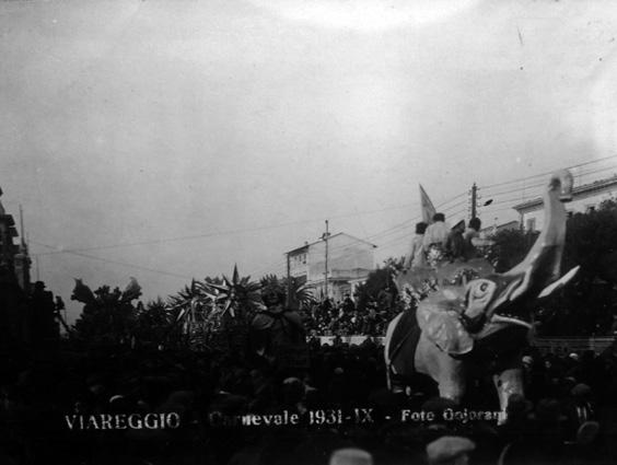 Caccia alle maschere di Tommaso Vassalle - Maschere Isolate - Carnevale di Viareggio 1931