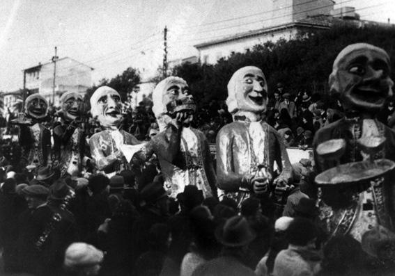 Carnevale in livrea di Armando Ramacciotti - Mascherate di Gruppo - Carnevale di Viareggio 1931