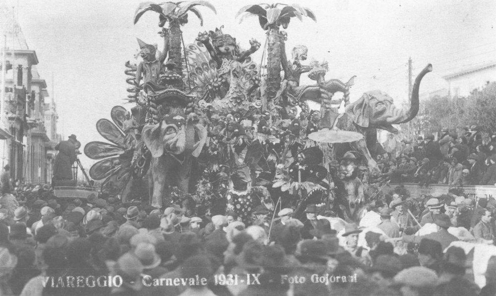 Carnevale nella jungla di Alfredo Pardini - Carri grandi - Carnevale di Viareggio 1931