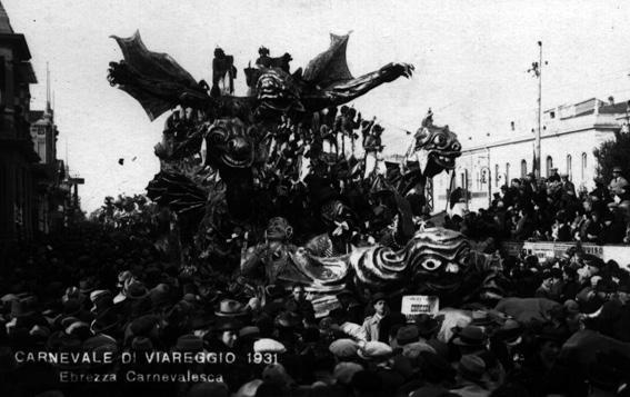 Ebbrezza carnevalesca di Mario Biondi, Guido Baroni, Guido Lippi - Carri grandi - Carnevale di Viareggio 1931