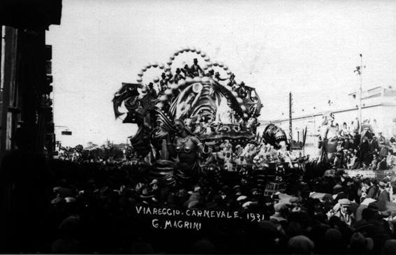 Festa di sirene in onore del carnevale di Antonio D'Arliano - Carri grandi - Carnevale di Viareggio 1931