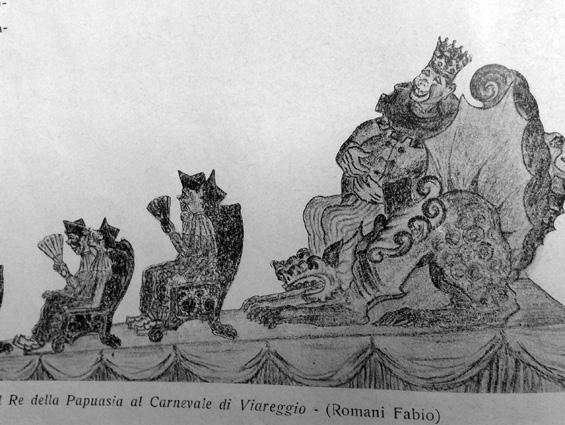 Il Re della Papuasia al carnevale di Fabio Romani - Mascherate di Gruppo - Carnevale di Viareggio 1931