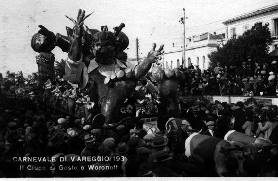 Il ciuco di Gosto e Woronoff di Alfredo Morescalchi e Marcello Di Volo - Carri piccoli - Carnevale di Viareggio 1931