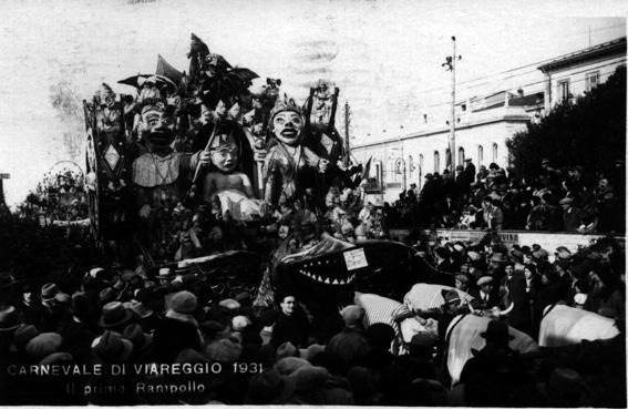 Il primo rampollo di Alighiero Cattani - Carri piccoli - Carnevale di Viareggio 1931