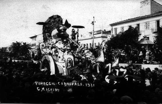 Pagliaccio trionfatore di Antonio D'Arliano - Carri piccoli - Carnevale di Viareggio 1931