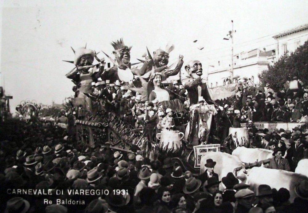 Re baldoria di Francesco Francesconi - Carri piccoli - Carnevale di Viareggio 1931