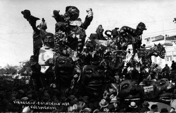 Se non sono matti non ce li vogliamo di Michelangelo Marcucci - Carri grandi - Carnevale di Viareggio 1931