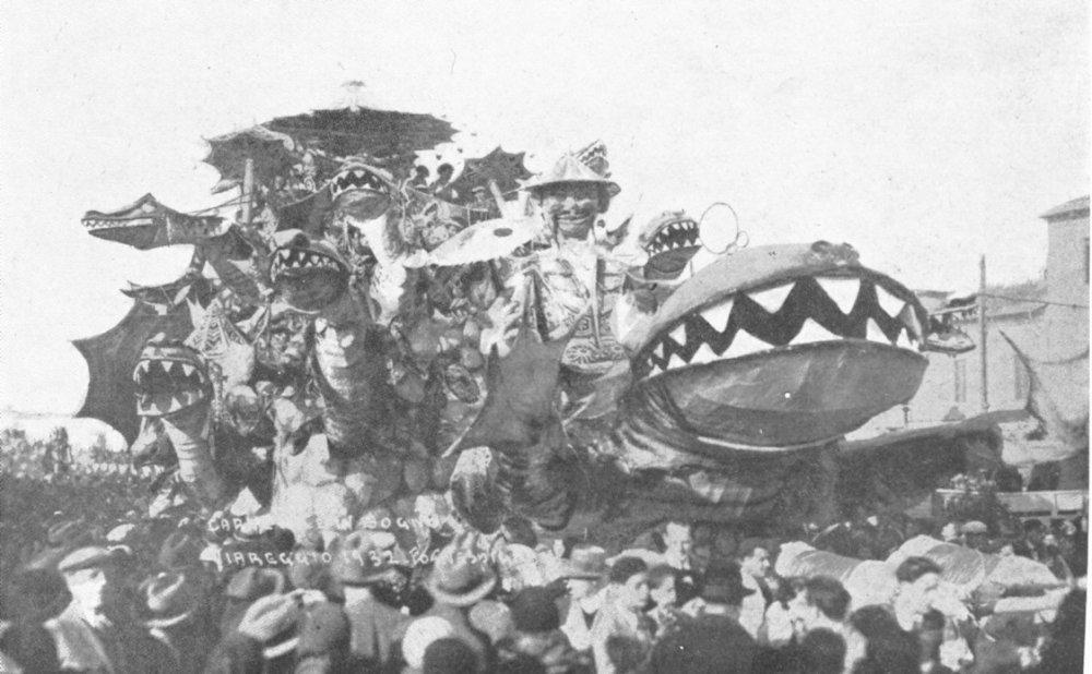 Carnevale in sogno di Antonio D'Arliano - Carri grandi - Carnevale di Viareggio 1932