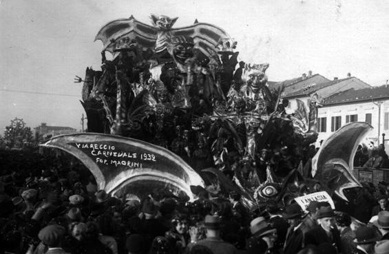Fantasia infernale di Rolando Morescalchi e Fabio Romani - Carri piccoli - Carnevale di Viareggio 1932