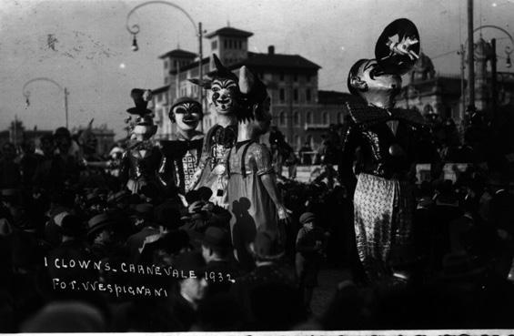 I clown di Guido Tomei - Mascherate di Gruppo - Carnevale di Viareggio 1932
