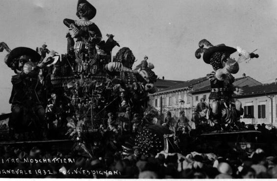I tre moschettieri di Alfredo Pardini - Carri grandi - Carnevale di Viareggio 1932