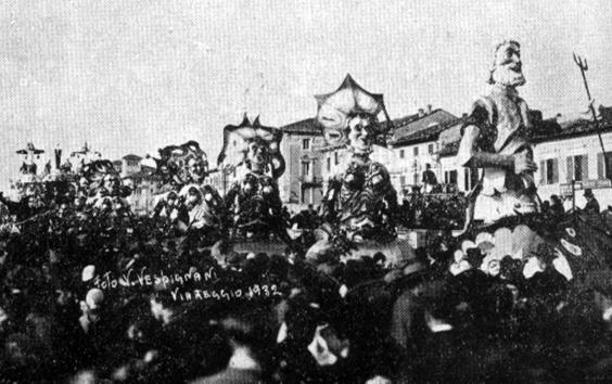 Il dono di Nettuno di Fabio Malfatti - Mascherate di Gruppo - Carnevale di Viareggio 1932