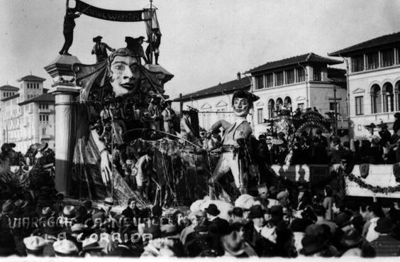 La corrida di Alighiero Cattani - Carri piccoli - Carnevale di Viareggio 1932