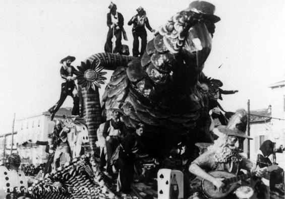 La sorte ammaestrata di Francesco Francesconi - Carri piccoli - Carnevale di Viareggio 1932