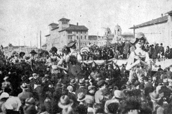 Le baccanti di Gino Martinelli - Mascherate di Gruppo - Carnevale di Viareggio 1932