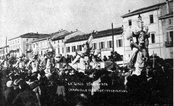 Le girls stagionate di Alfredo Morescalchi - Mascherate di Gruppo - Carnevale di Viareggio 1932